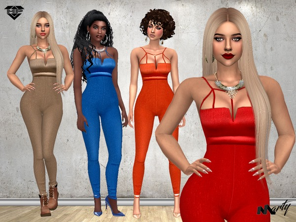 Sims 4 MP Cynthias Jumpsuit by MartyP at TSR