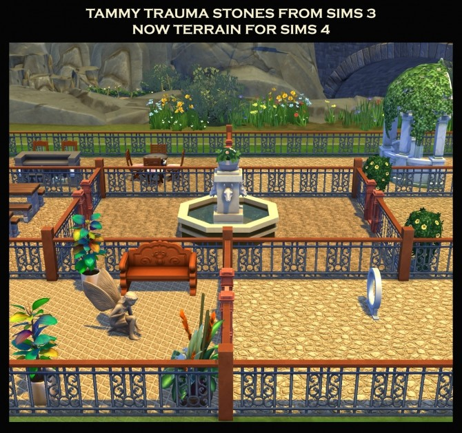 7 Stone Terrains from Sims 3 by Simmiller at Mod The Sims image 1729 670x629 Sims 4 Updates