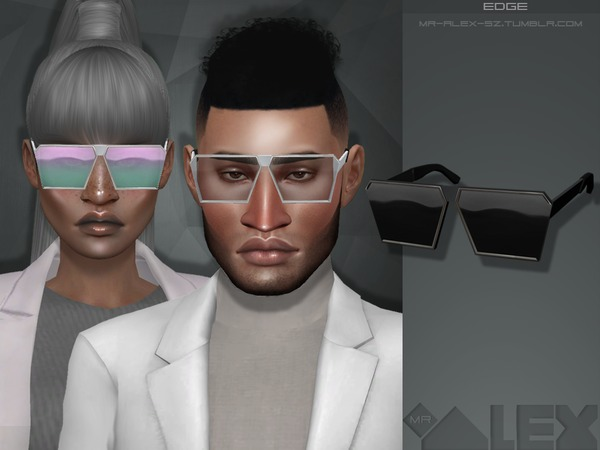 Edge sunglasses by Mr.Alex at TSR image 1760 Sims 4 Updates