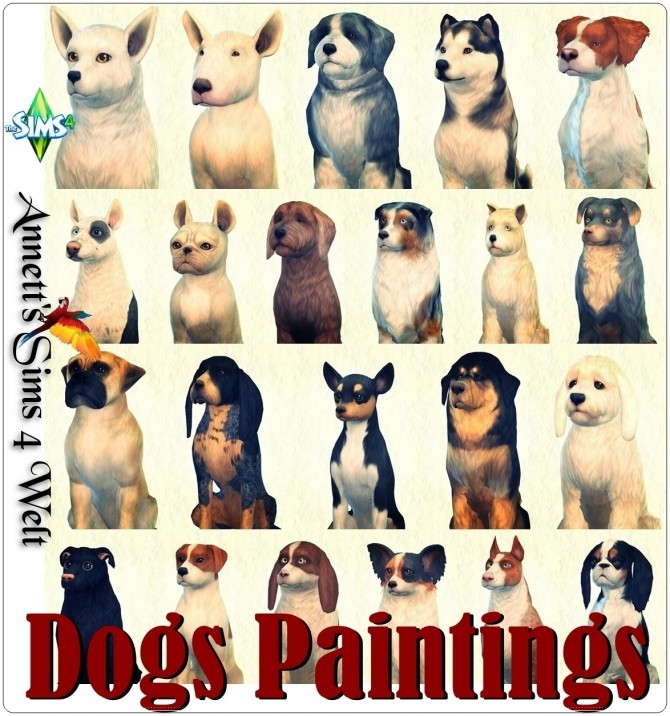 Sims 4 Dogs Paintings at Annett's Sims 4 Welt