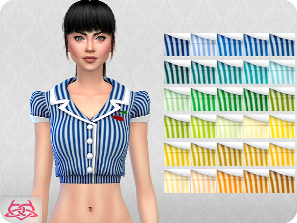 Sims 4 Waitress SET RECOLOR 3 by Colores Urbanos at TSR