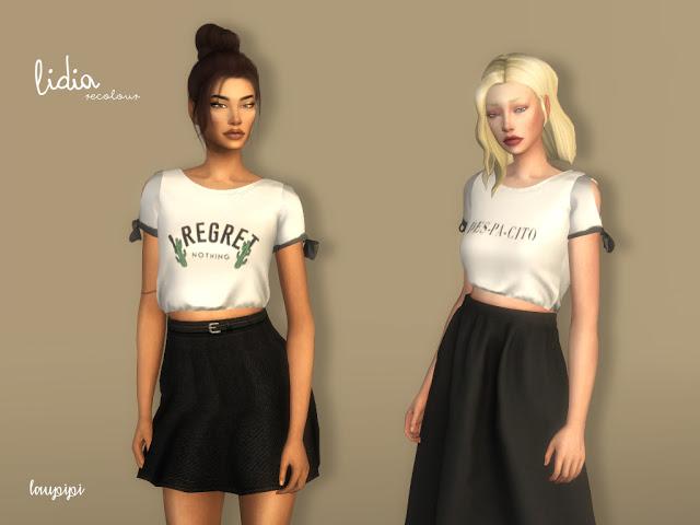 Lidia 01 t shirts at Laupipi image 189 Sims 4 Updates