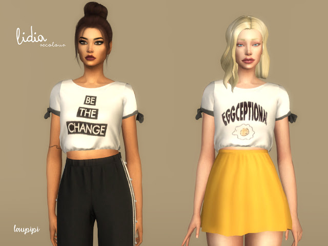 Lidia 01 t shirts at Laupipi image 190 Sims 4 Updates