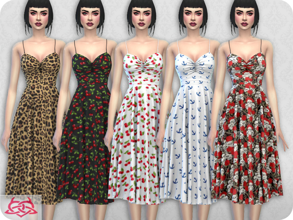 Claudia dress RECOLOR 8 by Colores Urbanos at TSR image 1913 Sims 4 Updates