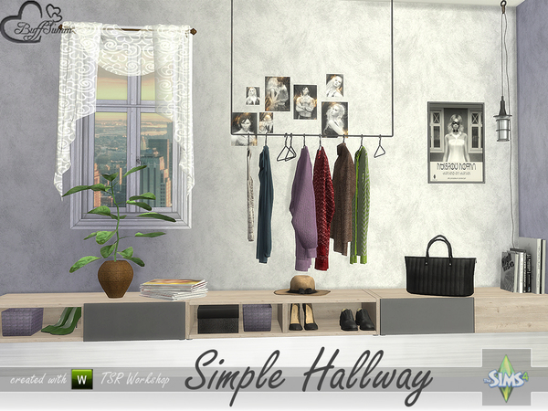 Simple Hallway by BuffSumm at TSR image 1915 Sims 4 Updates