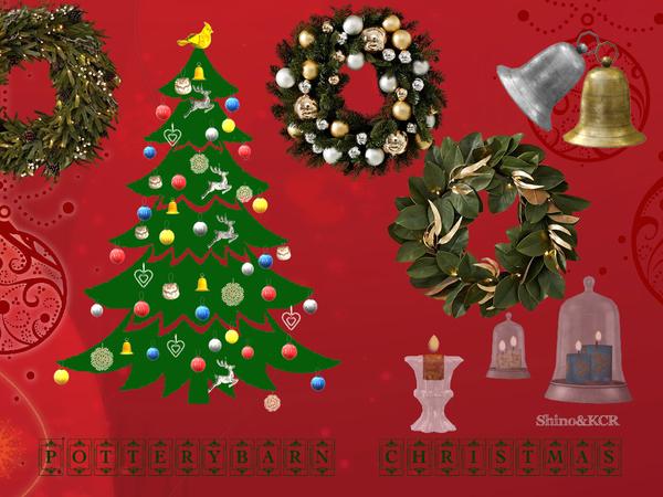 Sims 4 Potterybarn Christmas Decor Set by ShinoKCR at TSR