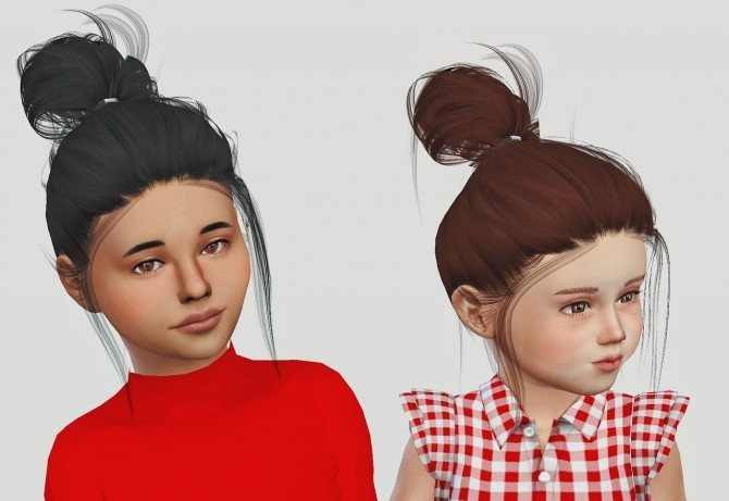 Sims 4 LeahLillith Clique hair kids and toddlers at Simiracle