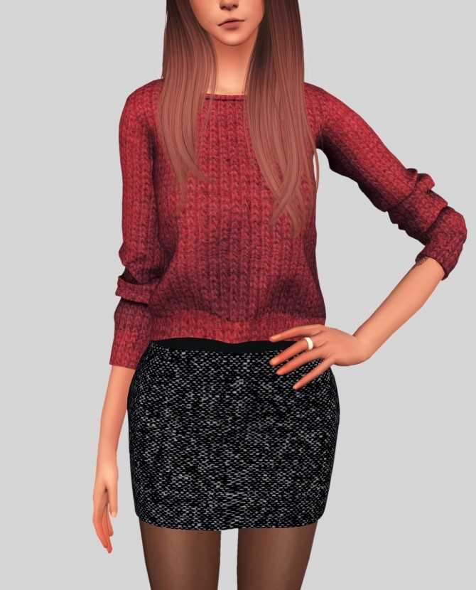 Sims 4 Mini Skirt at Elliesimple