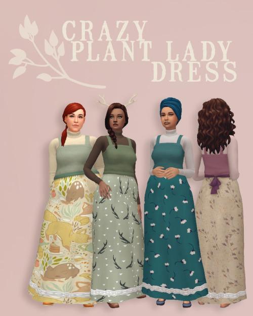 Sims 4 Crazy Plant Lady Dress at Hamburger Cakes
