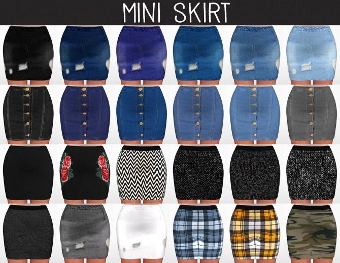 Mini Skirt at Elliesimple image 1985 670x519 Sims 4 Updates