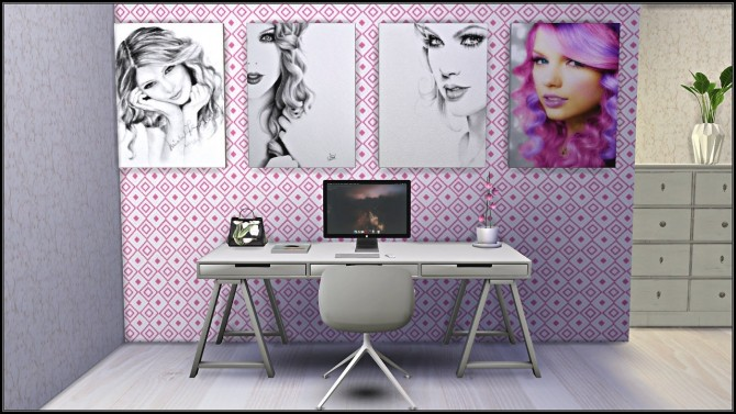 Taylor Swift Poster/Painting Collection at TaTschu`s Sims4