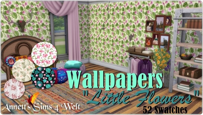 Little Flowers wallpapers at Annett's Sims 4 Welt image 1991 670x379 Sims 4 Updates