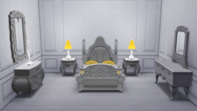 Sims 4 Dark Lux Bedroom from TS3 by TheJim07 at Mod The Sims