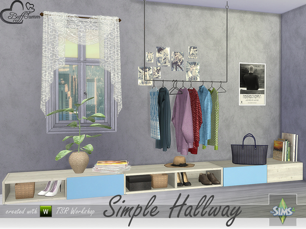 Simple Hallway by BuffSumm at TSR image 2015 Sims 4 Updates