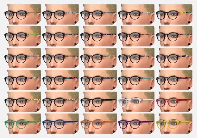 EyeHip Hipster Eyeglasses by Brainstrip at Mod The Sims image 2034 670x471 Sims 4 Updates