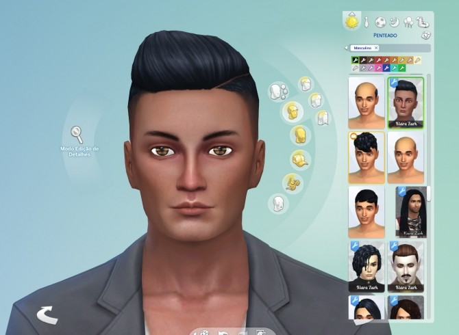 Sims 4 Part Shaved Conversion Hair at My Stuff