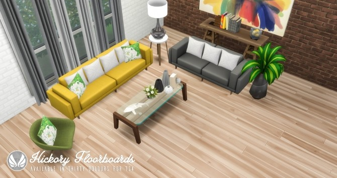 Sims 4 Hickory Floorboards at Simsational Designs