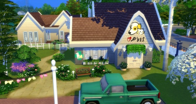 Sims 4 Home Veto clinic at Studio Sims Creation