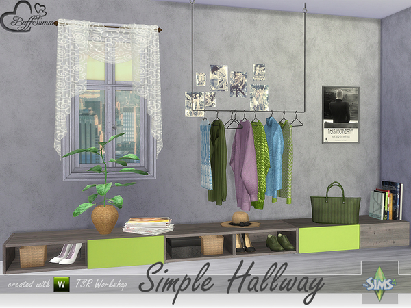 Simple Hallway by BuffSumm at TSR image 2115 Sims 4 Updates