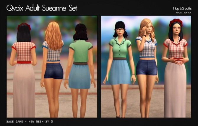 Sims 4 Sueanne Set at qvoix – escaping reality