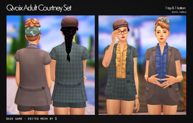 Sims 4 Courtney Set at qvoix – escaping reality