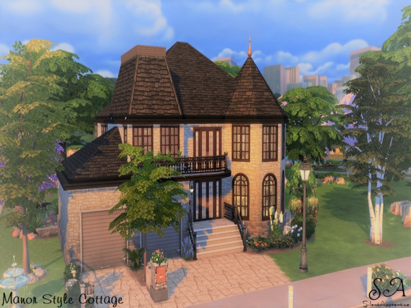 Sims 4 Manor Style Cottage by silentapprentice at TSR