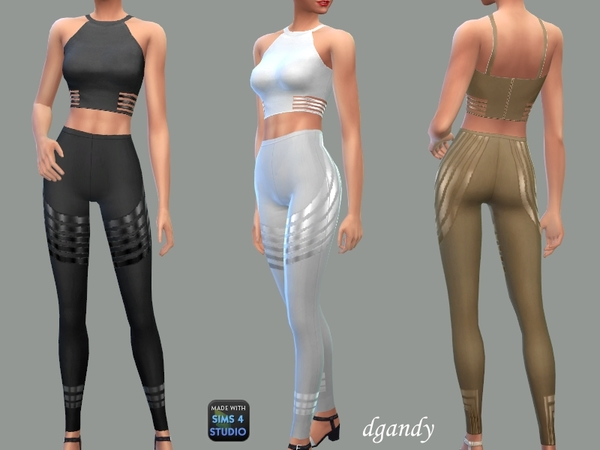Leggings and Top Devon by dgandy at TSR image 2136 Sims 4 Updates