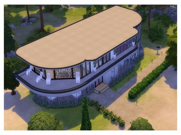 Modern Glass house by RightHearted at TSR image 2139 Sims 4 Updates