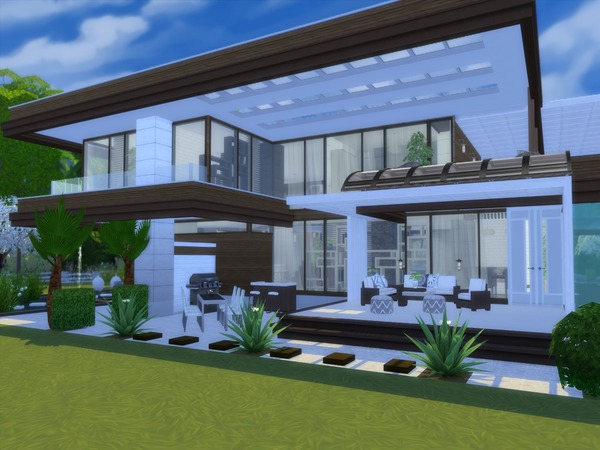 Modern Calanthe house by Suzz86 at TSR image 2148 Sims 4 Updates