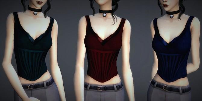 Sims 4 Rosa Corset at Magnolian Farewell