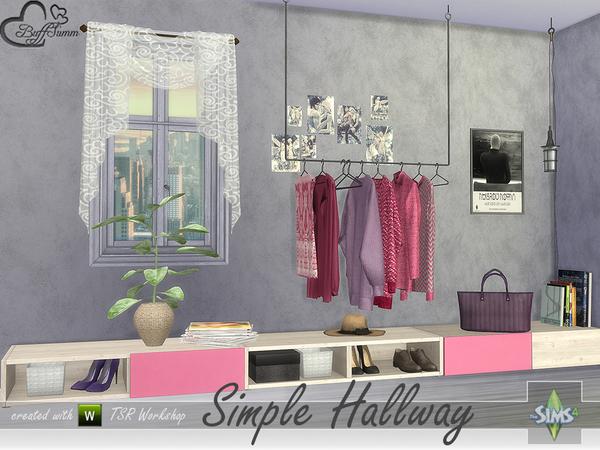 Sims 4 Simple Hallway by BuffSumm at TSR