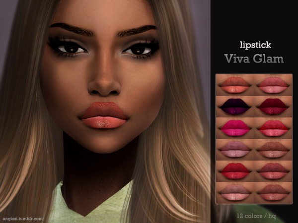 Sims 4 Viva Glam lipstick by ANGISSI at TSR