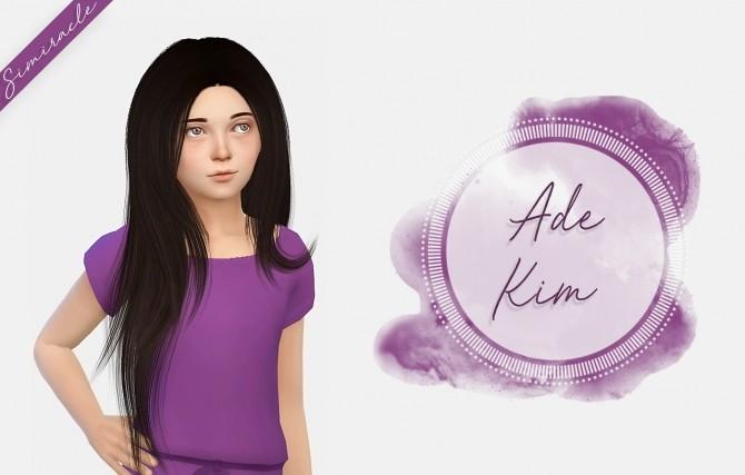 Sims 4 Ade Kim Hair Kids Version at Simiracle