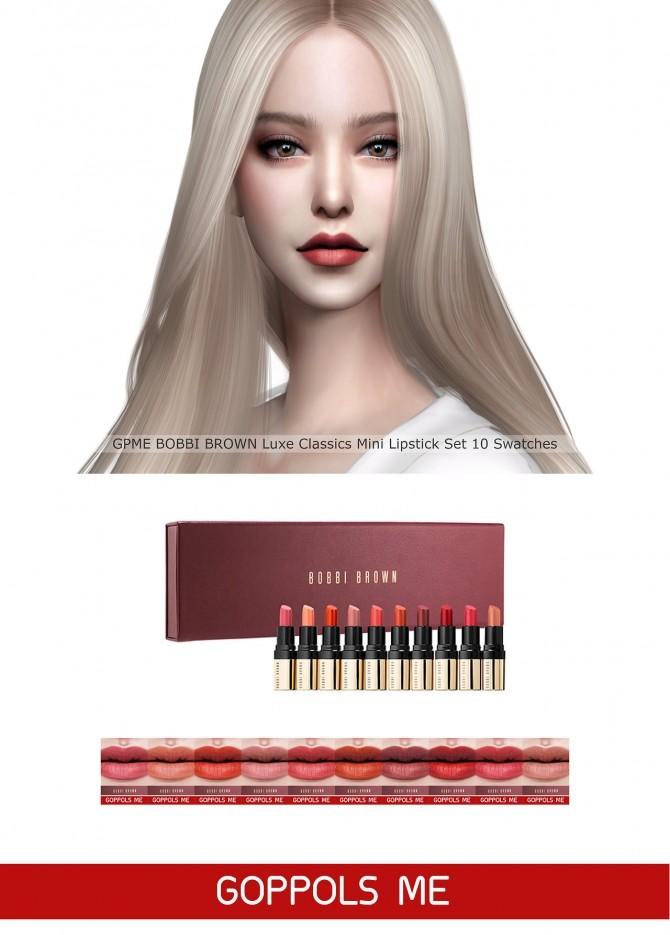Sims 4 Luxe Classics Mini Lipstick Set at GOPPOLS Me