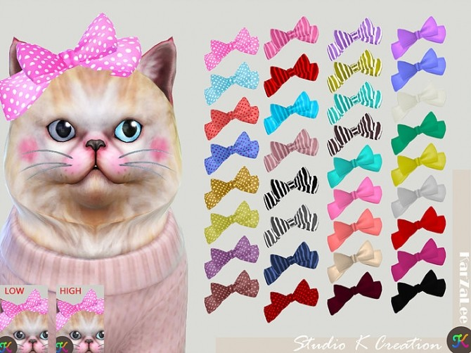 Cat head bow at Studio K Creation image 2313 670x502 Sims 4 Updates