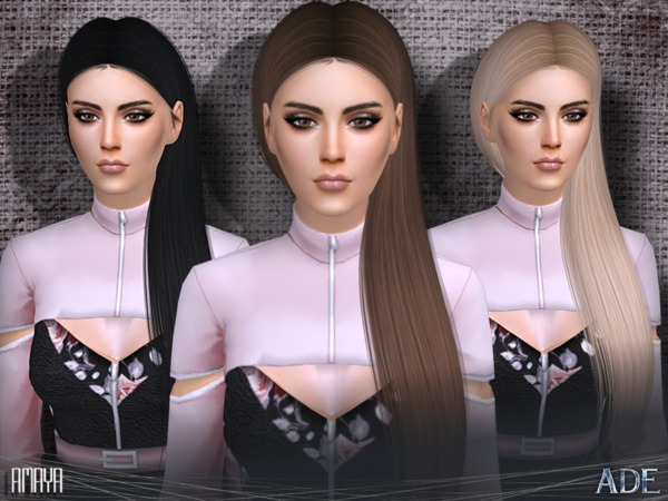 Sims 4 Amaya hair by Ade Darma at TSR