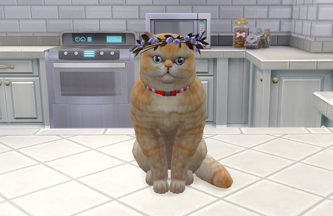 Cat flowers headpiece at Studio K Creation image 2341 670x435 Sims 4 Updates