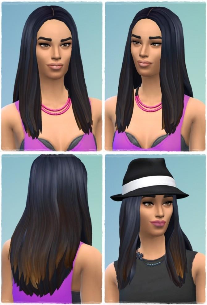 Sims 4 Long Straight High Hair Line at Birksches Sims Blog