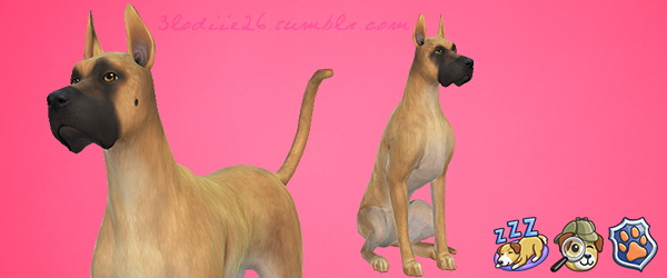 Sims 4 Elfy the lazy dog by 3lodiie at Les Sims4