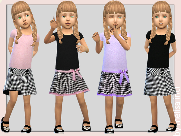 Sims 4 Pretty 2 in 1 Dress by melisa inci at TSR