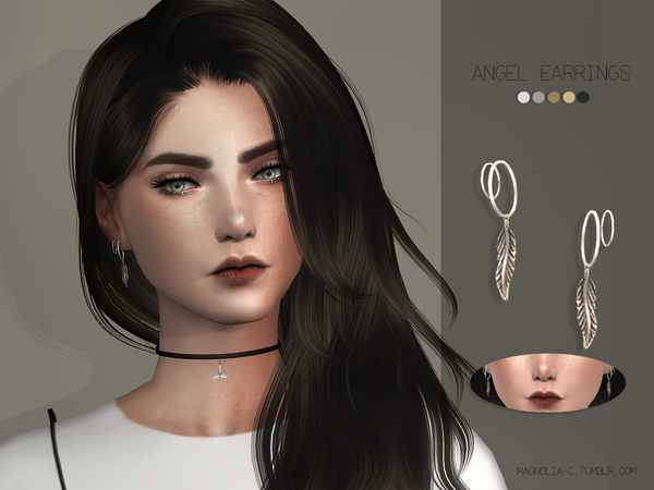 Sims 4 Angel Earrings by magnolia c at TSR