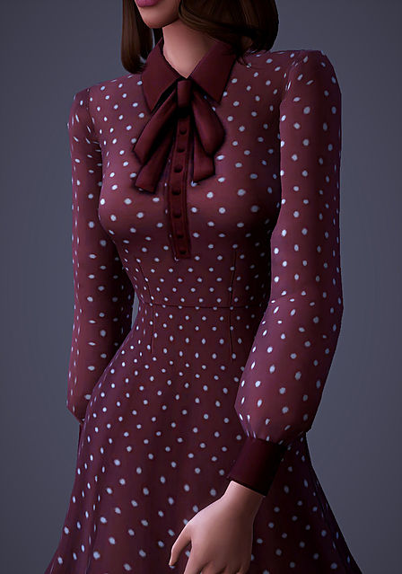 Sims 4 Isabelle Dress at Magnolian Farewell