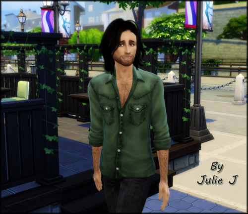 EP04 Cats & Dogs Male Denim Shirt Edited at Julietoon – Julie J image 250 Sims 4 Updates