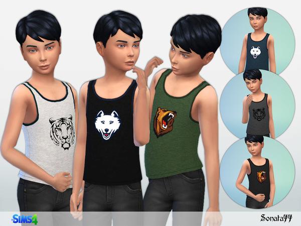 Sims 4 Tank top for boys by Sonata77 at TSR