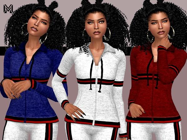 Sims 4 MP Trendy Velvet Stripes Jacket by MartyP at TSR