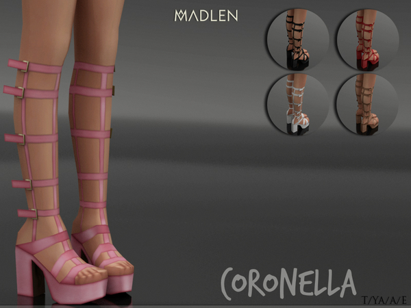 Sims 4 Madlen Coronella Shoes by MJ95 at TSR
