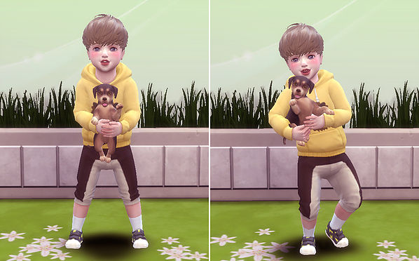 Toddler & Puppy Pose at A luckyday image 2541 Sims 4 Updates