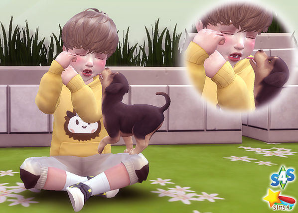 Toddler & Puppy Pose at A luckyday image 2551 Sims 4 Updates