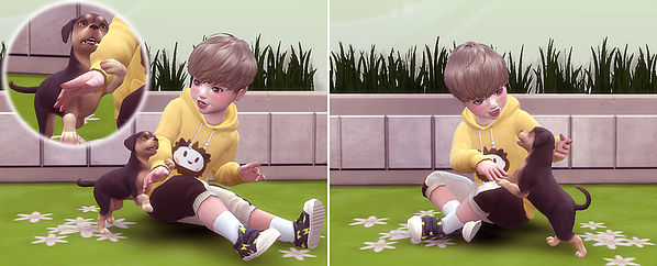 Toddler & Puppy Pose at A luckyday image 2561 Sims 4 Updates