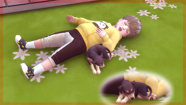 Toddler & Puppy Pose at A luckyday image 2571 Sims 4 Updates
